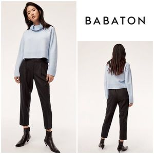 Babaton Cohen Stretch Wool Cashmere Pants in Charcoal